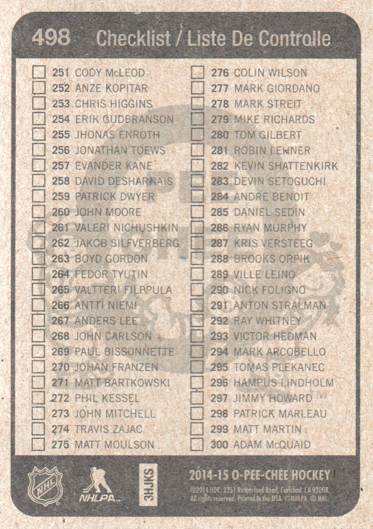 2014-15-O-Pee-Chee-Retro-Pick-From-List-251-500 thumbnail 173