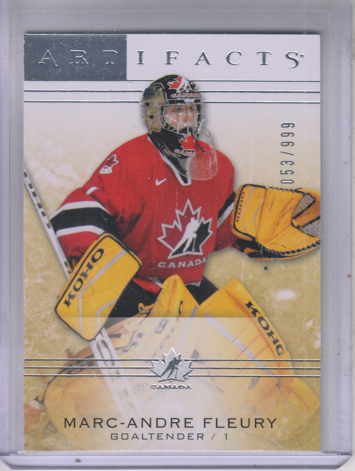 2014-15 Artifacts #102 Marc-Andre Fleury G