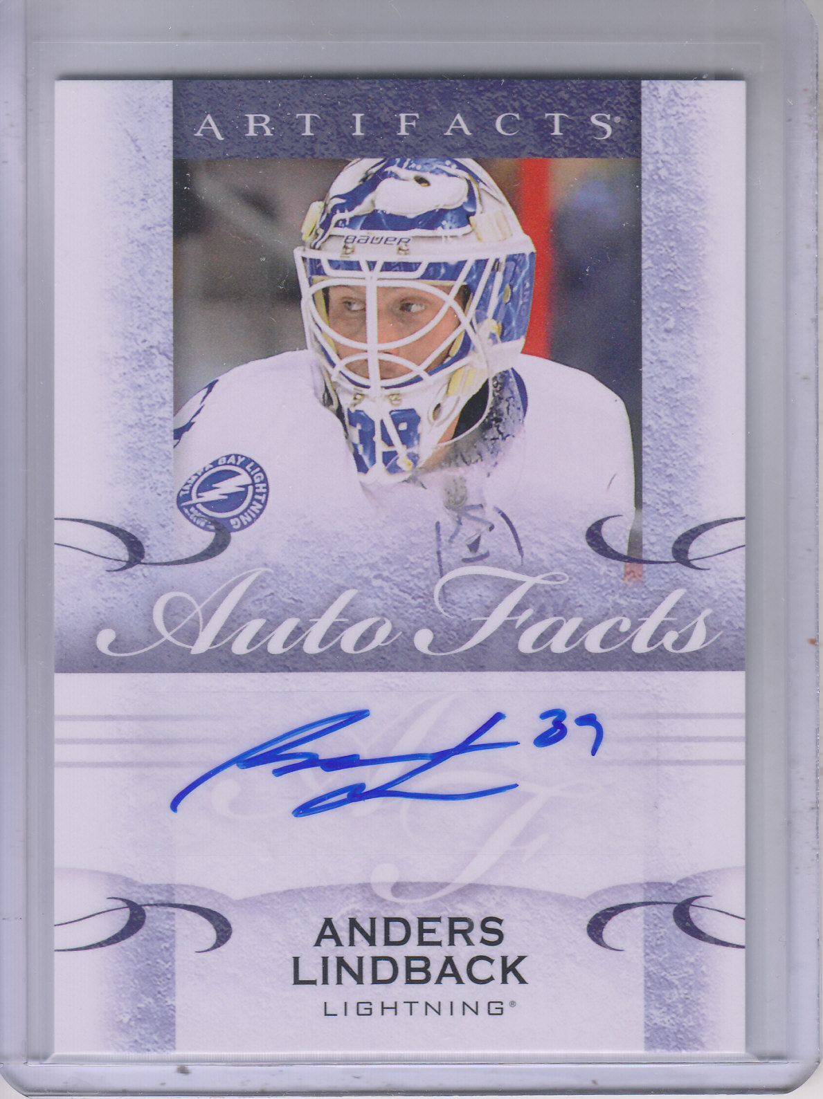 2014-15 Artifacts Autofacts #AAL Anders Lindback F