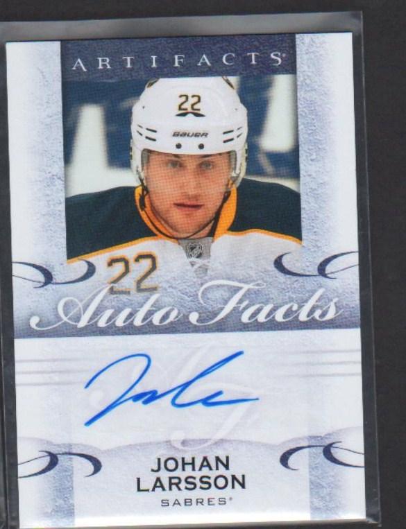 2014-15 Artifacts Autofacts #AJL Johan Larsson H