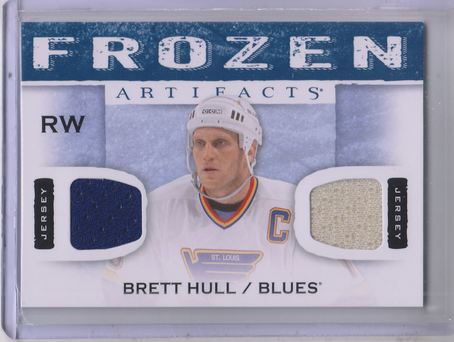 2014-15 Artifacts Frozen Artifacts Jerseys Blue #FABH Brett Hull