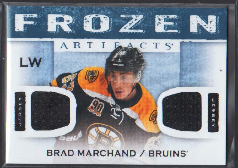 2014-15 Artifacts Frozen Artifacts Jerseys Blue #FABM Brad Marchand