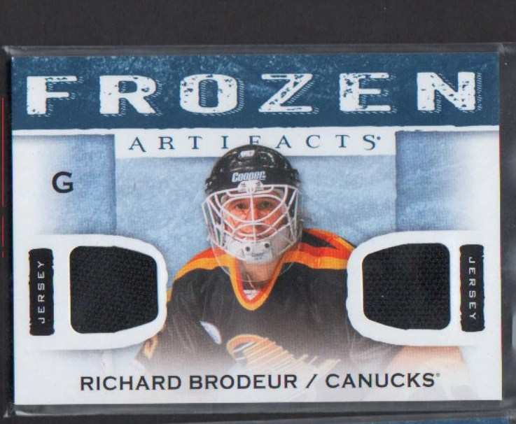 2014-15 Artifacts Frozen Artifacts Jerseys Blue #FABR Richard Brodeur