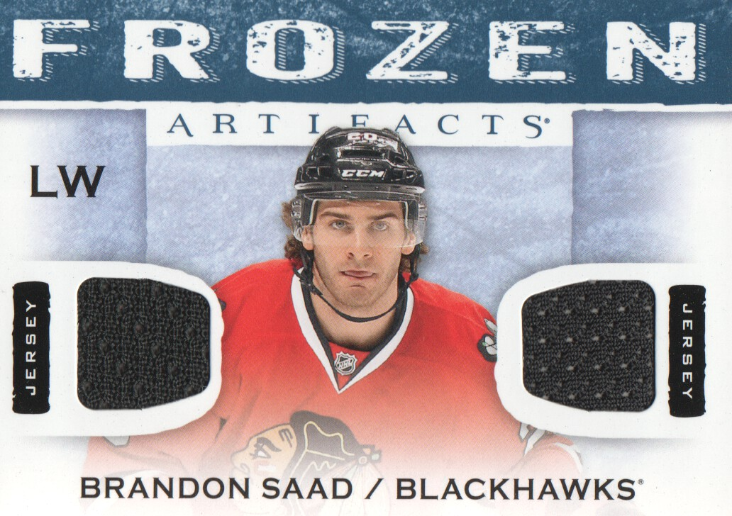 2014-15 Artifacts Frozen Artifacts Jerseys Blue #FABS Brandon Saad