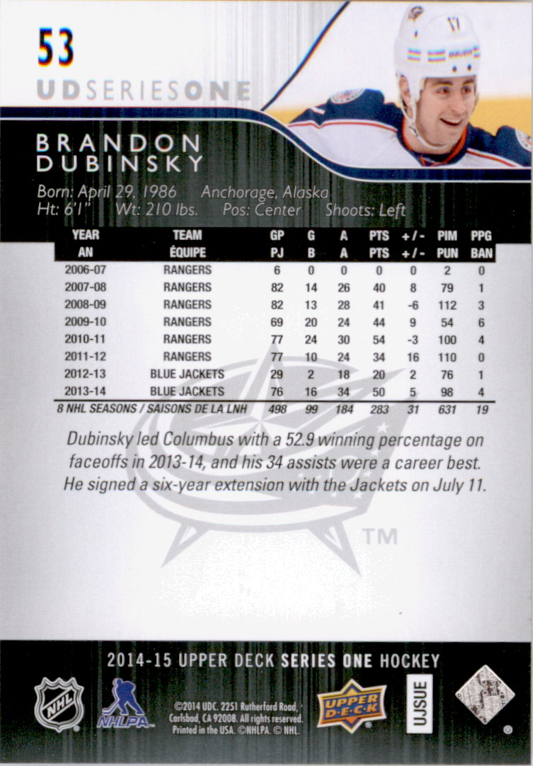 2014-15-Upper-Deck-Hk-Card-s-1-250-Rookies-U-Pick-Buy-10-cards-FREE-SHIP thumbnail 107