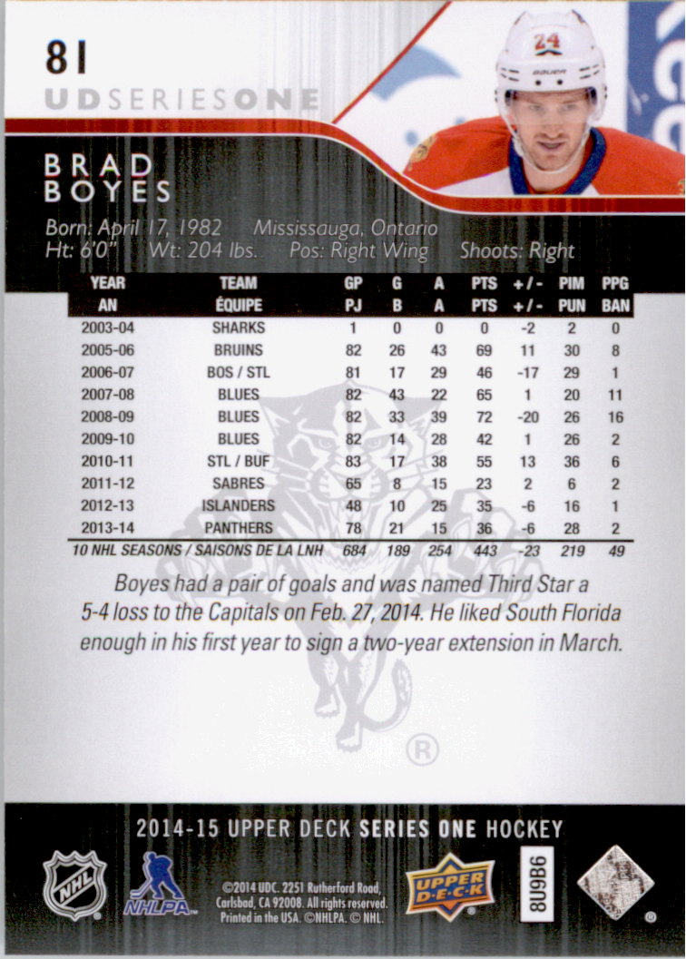 2014-15-Upper-Deck-Hk-Card-s-1-250-Rookies-U-Pick-Buy-10-cards-FREE-SHIP thumbnail 163