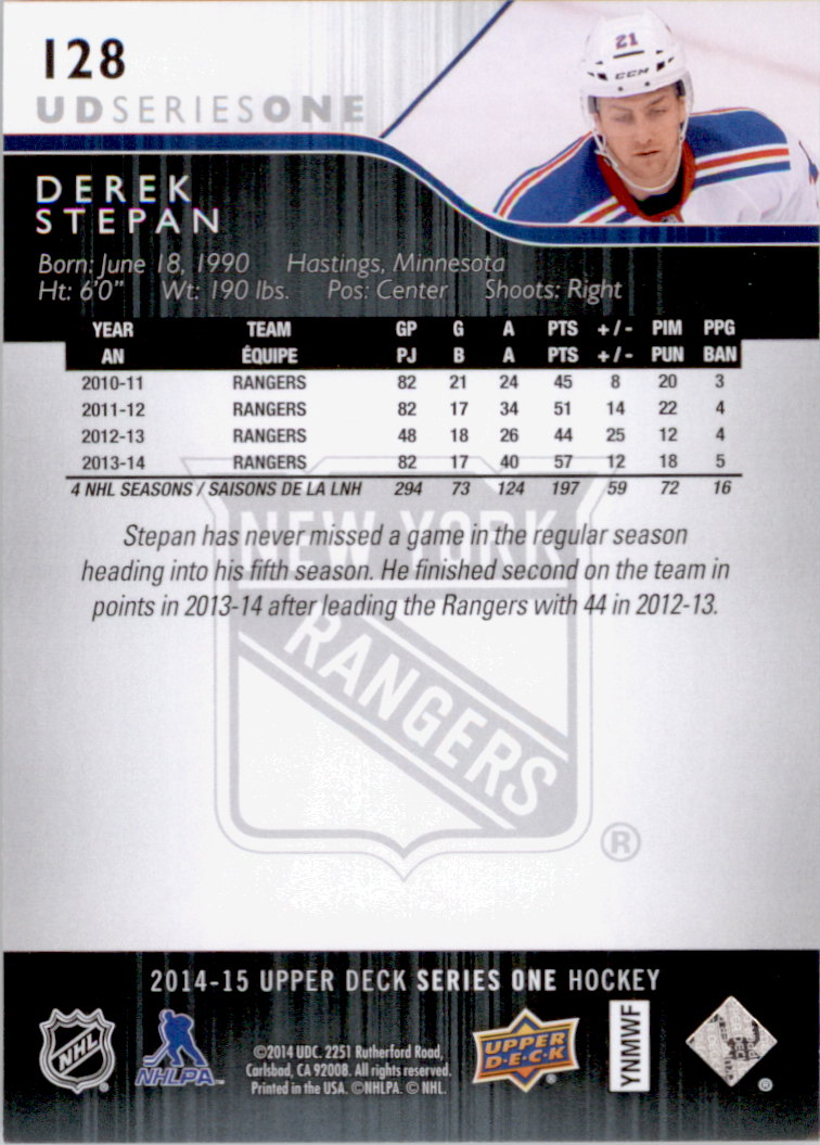 2014-15-Upper-Deck-Hk-Card-s-1-250-Rookies-U-Pick-Buy-10-cards-FREE-SHIP thumbnail 257