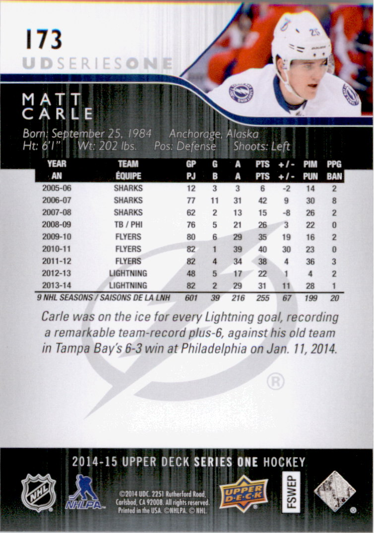 2014-15-Upper-Deck-Hk-Card-s-1-250-Rookies-U-Pick-Buy-10-cards-FREE-SHIP thumbnail 347
