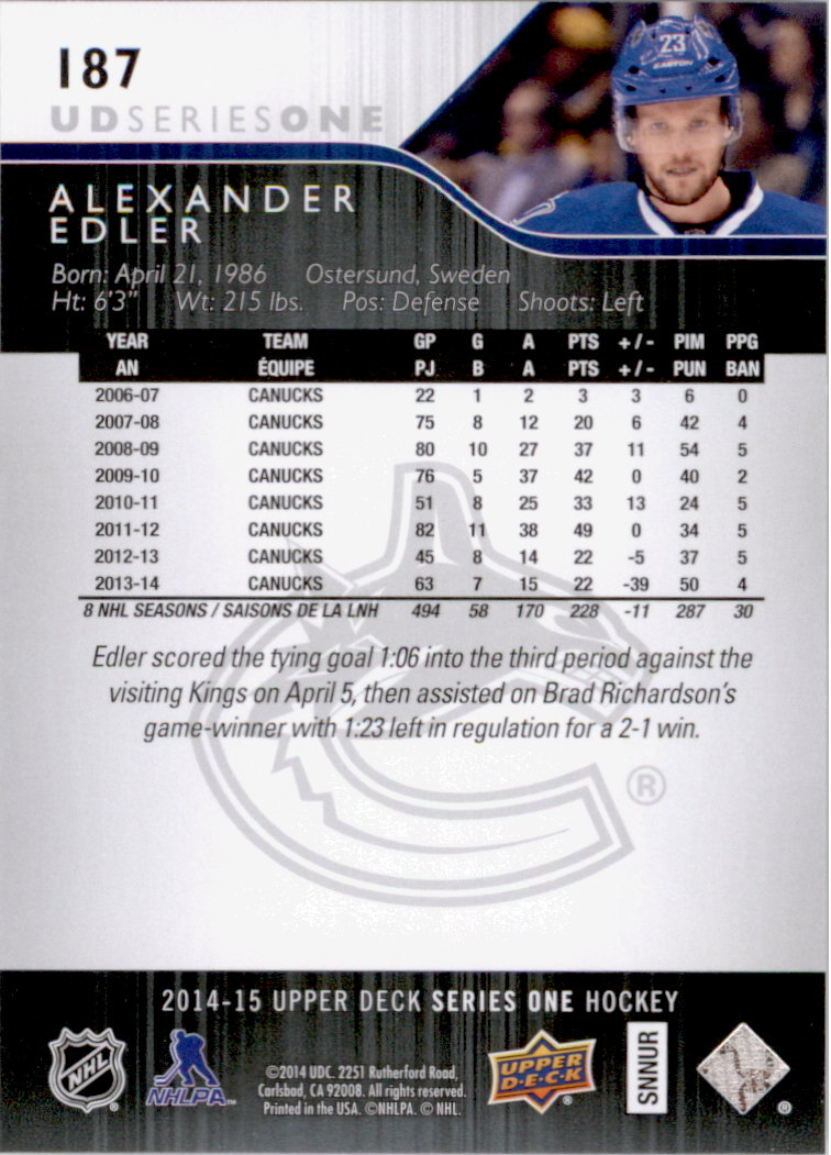 2014-15-Upper-Deck-Hk-Card-s-1-250-Rookies-U-Pick-Buy-10-cards-FREE-SHIP thumbnail 375