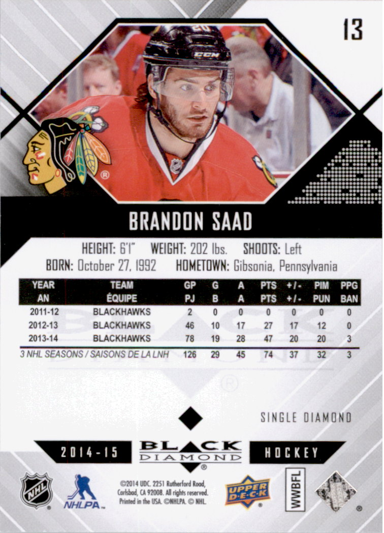 2014-15-Black-Diamond-Hockey-Card-Pick thumbnail 23