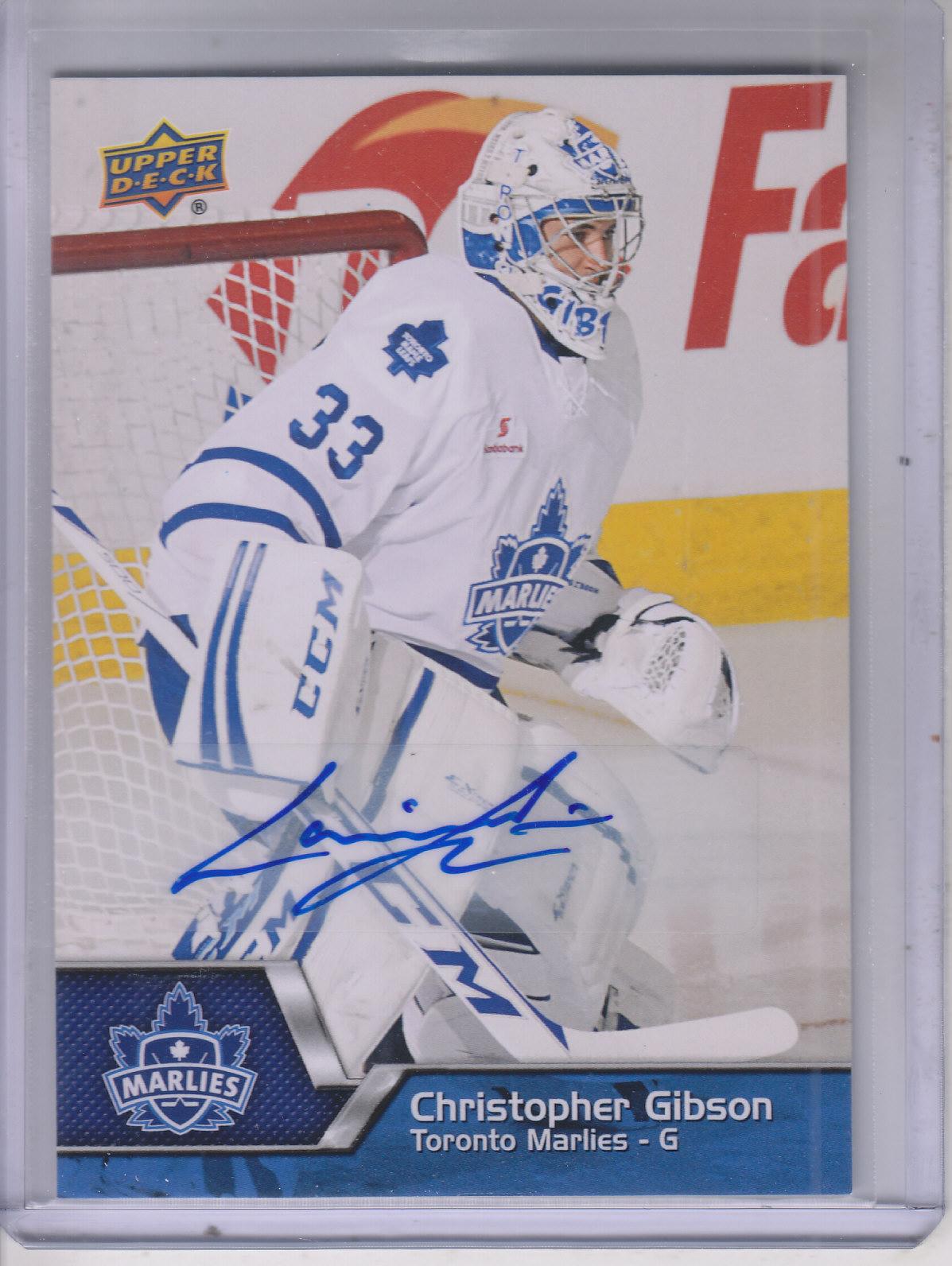 2014-15 Upper Deck AHL Autographs #33 Christopher Gibson