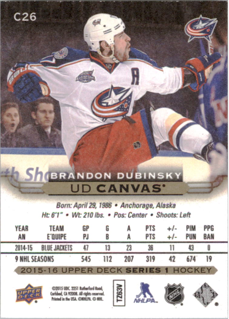 2015-16-Upper-Deck-Canvas-Hockey-Card-Pick miniature 38