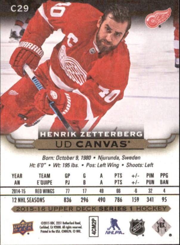 2015-16-Upper-Deck-Canvas-Hockey-Card-Pick miniature 42