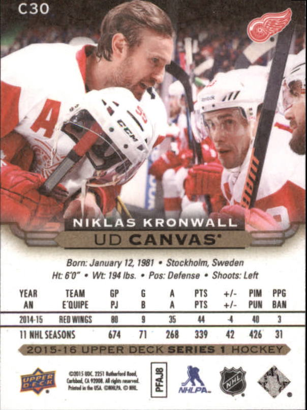2015-16-Upper-Deck-Canvas-Hockey-Card-Pick miniature 44