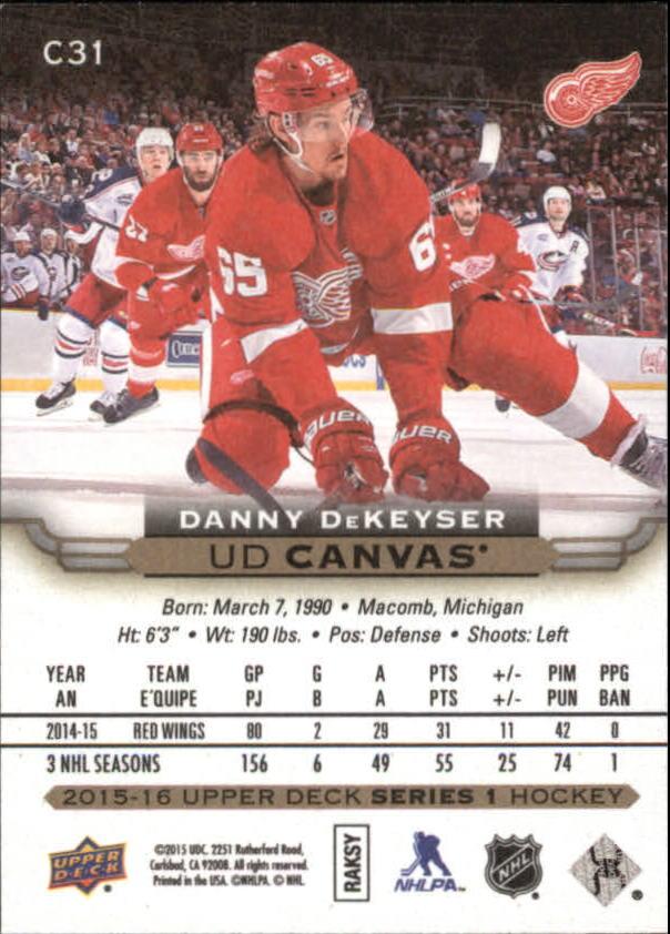 2015-16-Upper-Deck-Canvas-Hockey-Card-Pick miniature 46