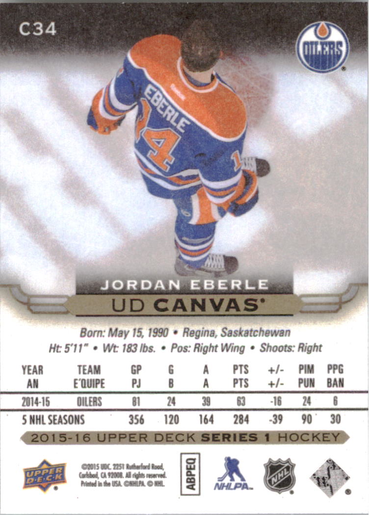 2015-16-Upper-Deck-Canvas-Hockey-Card-Pick miniature 50