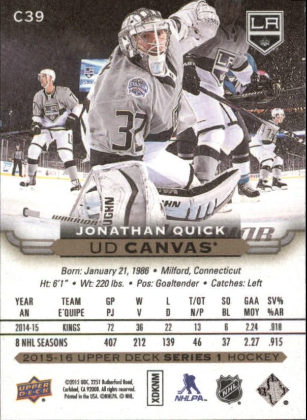 2015-16-Upper-Deck-Canvas-Hockey-Card-Pick miniature 57
