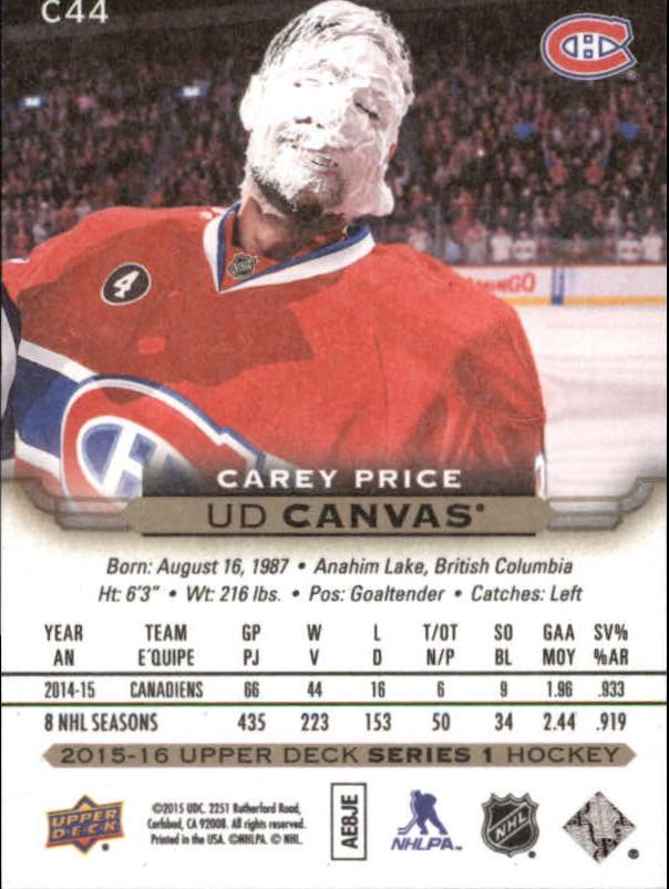 2015-16-Upper-Deck-Canvas-Hockey-Card-Pick miniature 65