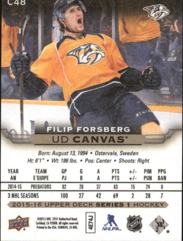 2015-16-Upper-Deck-Canvas-Hockey-Card-Pick miniature 70