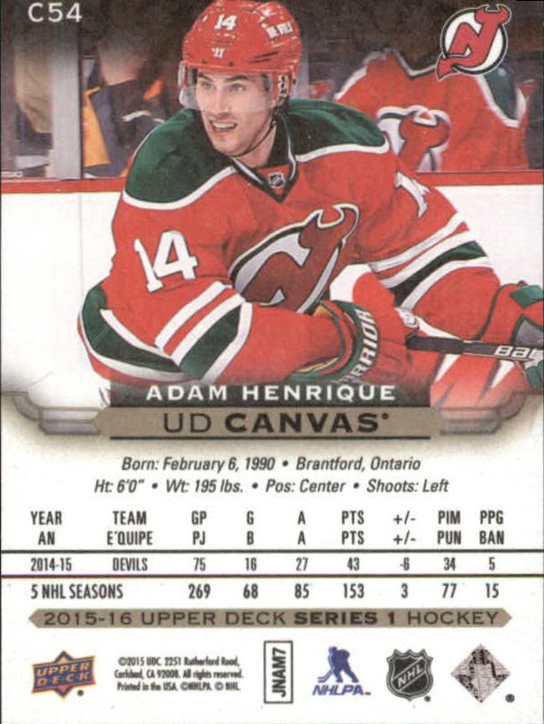 2015-16-Upper-Deck-Canvas-Hockey-Card-Pick miniature 78