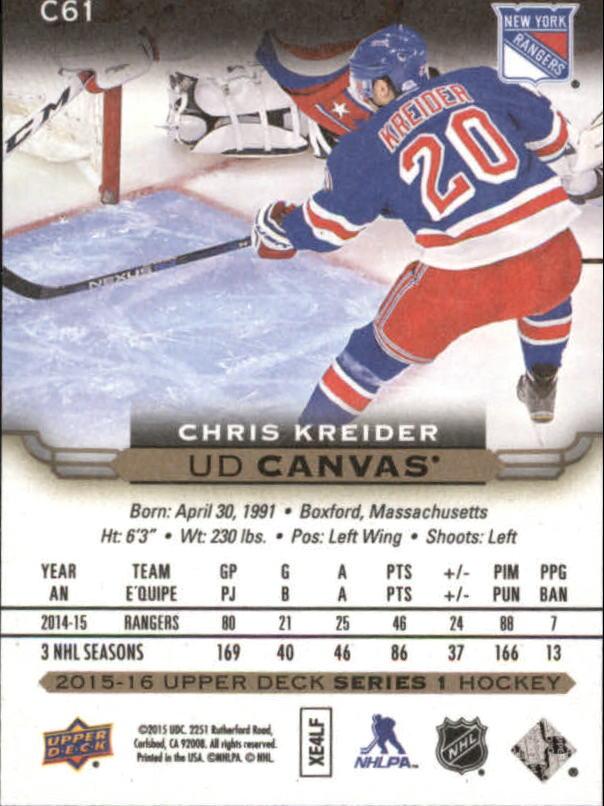 2015-16-Upper-Deck-Canvas-Hockey-Card-Pick miniature 92