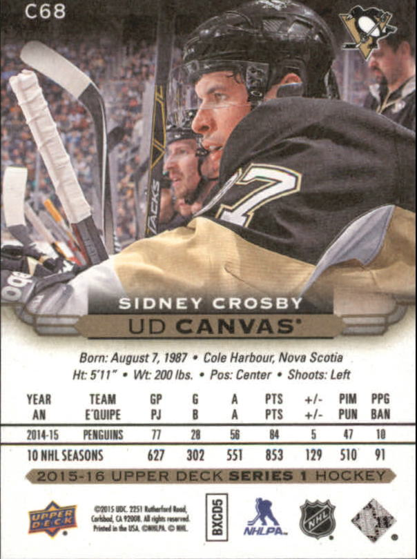 2015-16-Upper-Deck-Canvas-Hockey-Card-Pick miniature 103