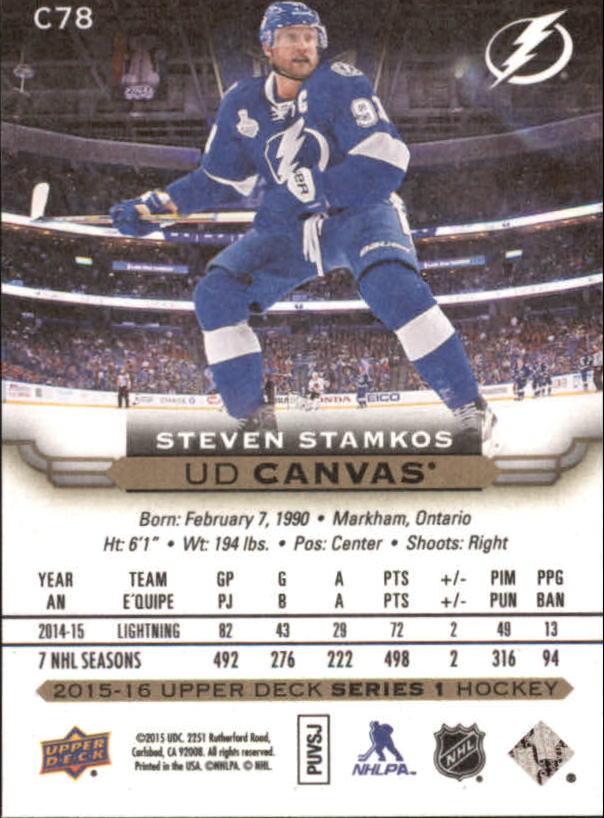 2015-16-Upper-Deck-Canvas-Hockey-Card-Pick miniature 118