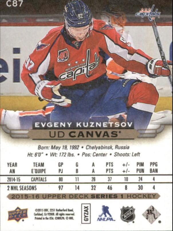 2015-16-Upper-Deck-Canvas-Hockey-Card-Pick miniature 131