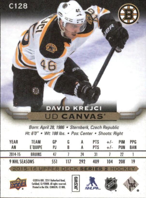 2015-16-Upper-Deck-Canvas-Hockey-Card-Pick miniature 142