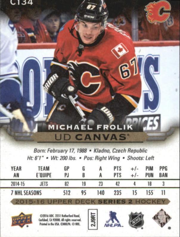 2015-16-Upper-Deck-Canvas-Hockey-Card-Pick miniature 151