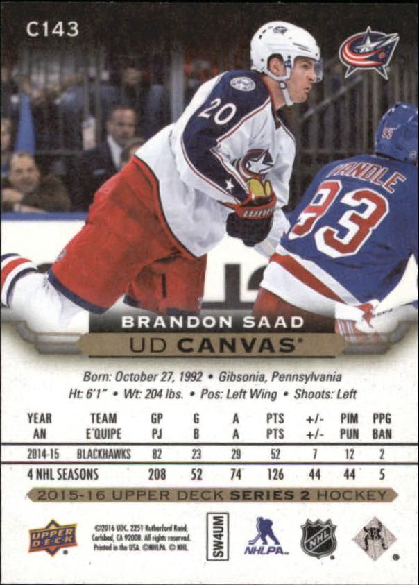 2015-16-Upper-Deck-Canvas-Hockey-Card-Pick miniature 160