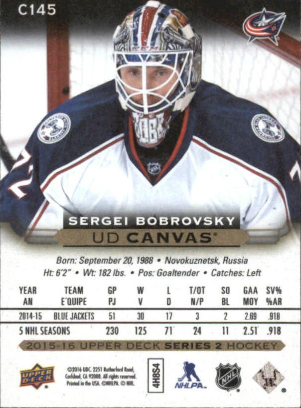 2015-16-Upper-Deck-Canvas-Hockey-Card-Pick miniature 164