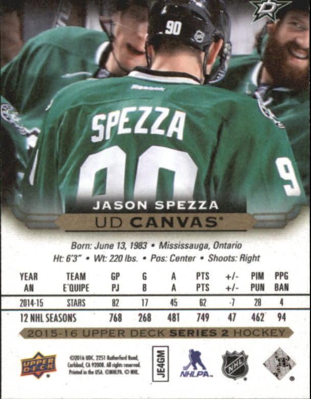 2015-16-Upper-Deck-Canvas-Hockey-Card-Pick miniature 169
