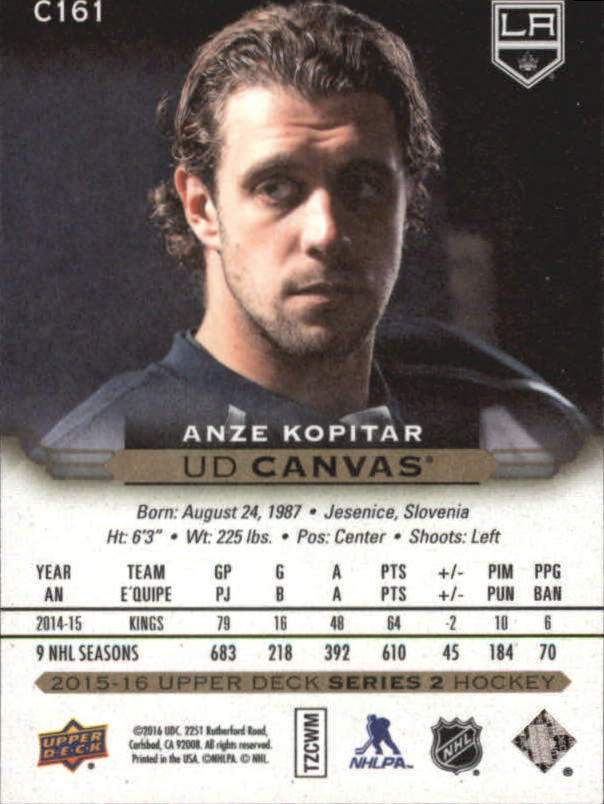 2015-16-Upper-Deck-Canvas-Hockey-Card-Pick miniature 179