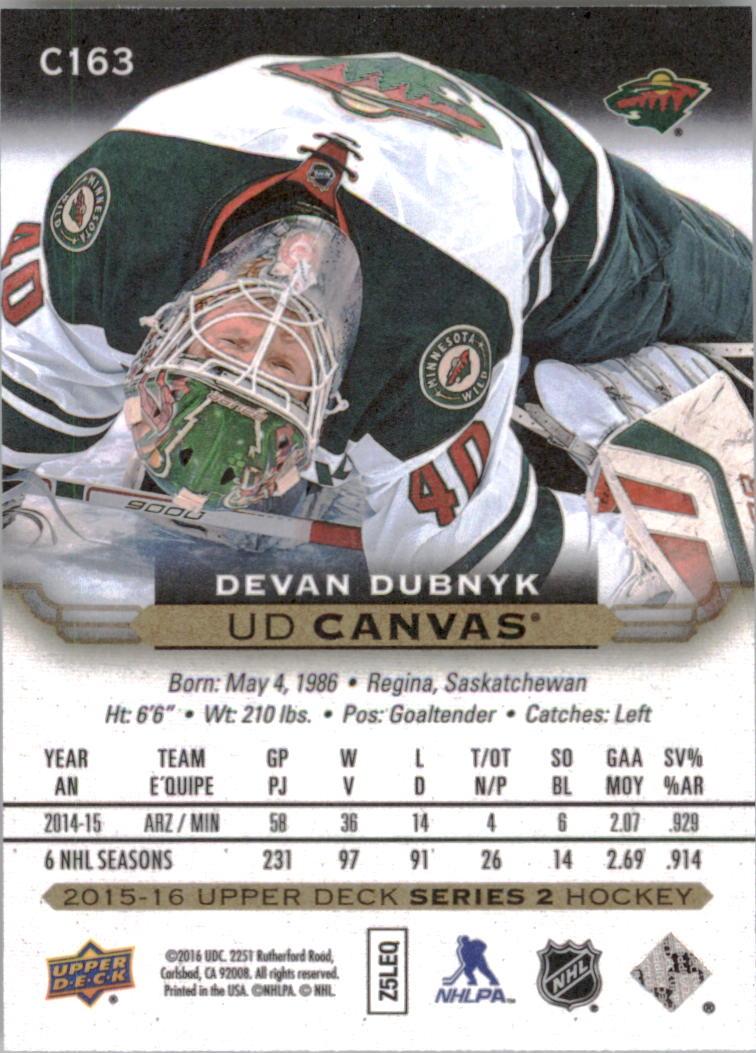 2015-16-Upper-Deck-Canvas-Hockey-Card-Pick miniature 181