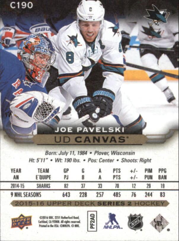 2015-16-Upper-Deck-Canvas-Hockey-Card-Pick miniature 201