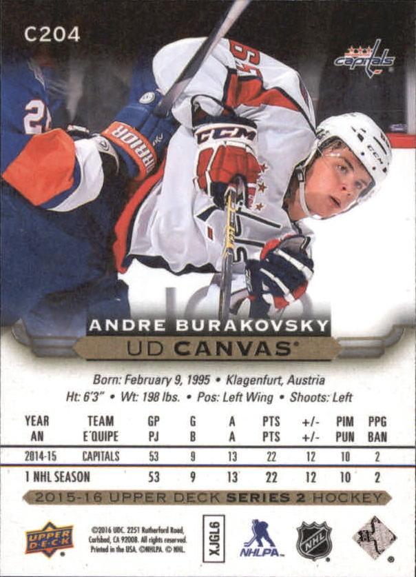 2015-16-Upper-Deck-Canvas-Hockey-Card-Pick miniature 217