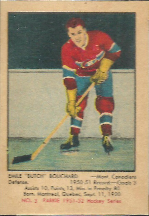 1951-52 Parkhurst #3 Butch Bouchard RC