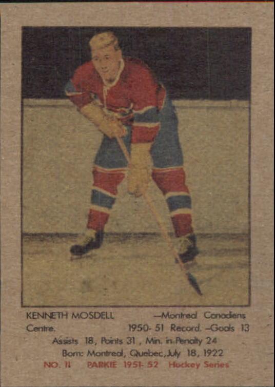 1951-52 Parkhurst #11 Ken Mosdell RC