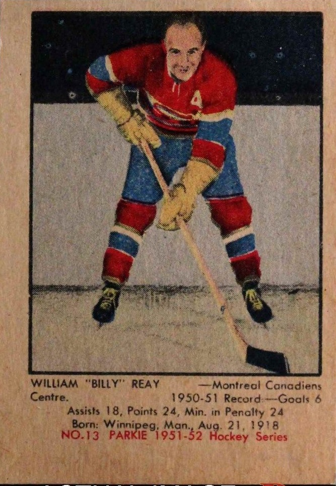 1951-52 Parkhurst #13 Billy Reay RC
