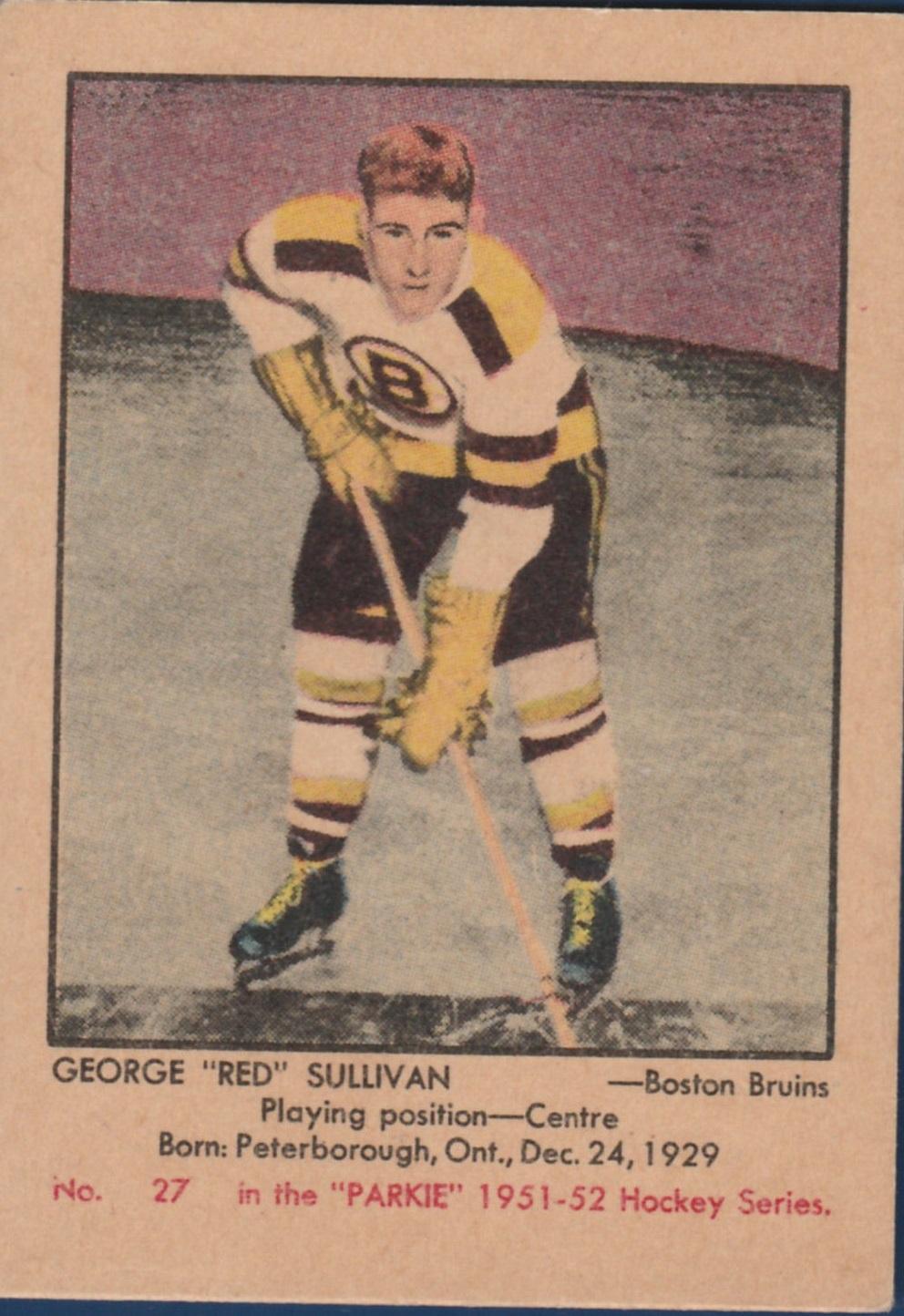 1951-52 Parkhurst #27 George Sullivan RC
