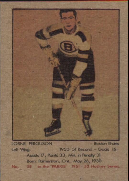 1951-52 Parkhurst #35 Lorne Ferguson RC