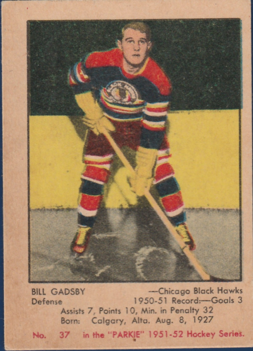 1951-52 Parkhurst #37 Bill Gadsby RC