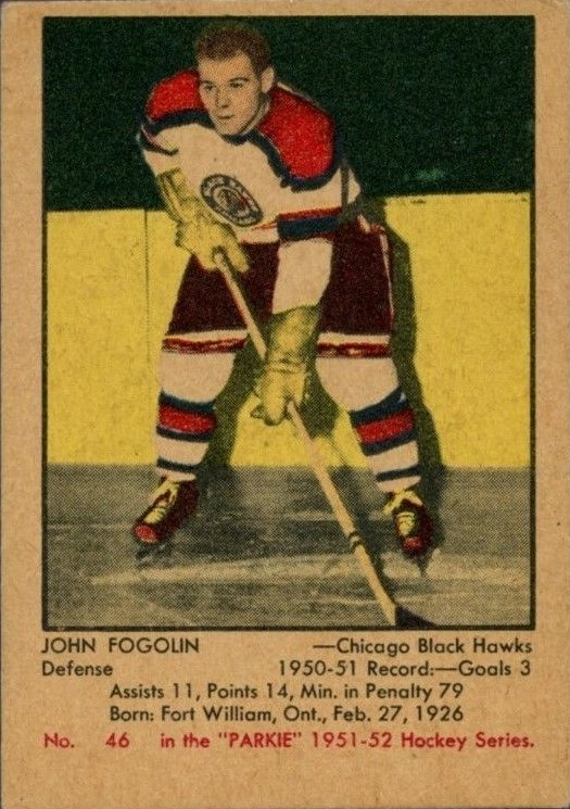 1951-52 Parkhurst #46 Lee Fogolin RC