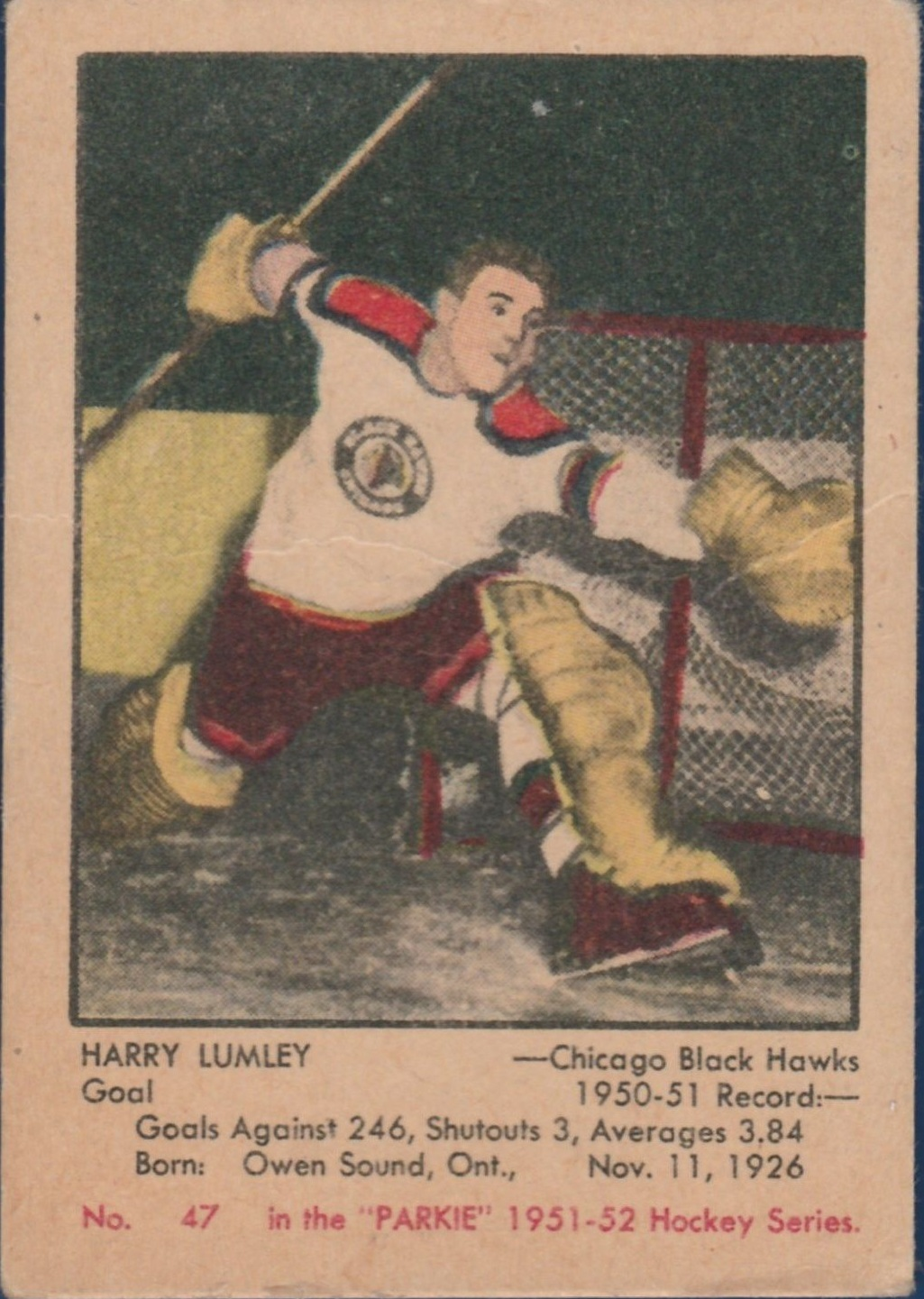 1951-52 Parkhurst #47 Harry Lumley RC