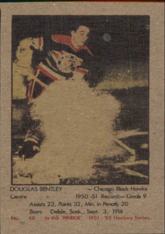 1951-52 Parkhurst #48 Doug Bentley RC