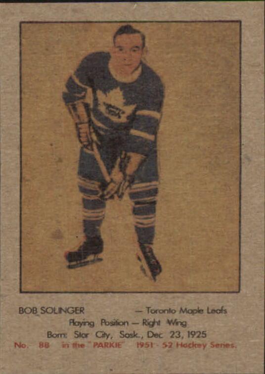 1951-52 Parkhurst #88 Bob Solinger RC