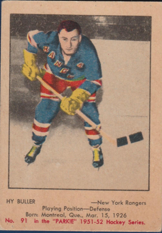 1951-52 Parkhurst #91 Hy Buller RC