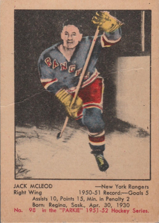 1951-52 Parkhurst #98 Jack McLeod RC