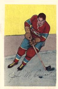 1952-53 Parkhurst #15 John McCormack RC